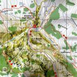 La mappa dei sentieri